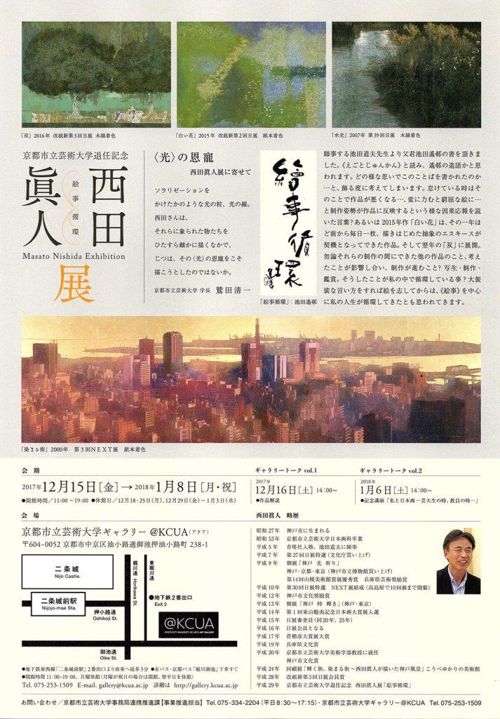 西田眞人展のチラシ裏面画像