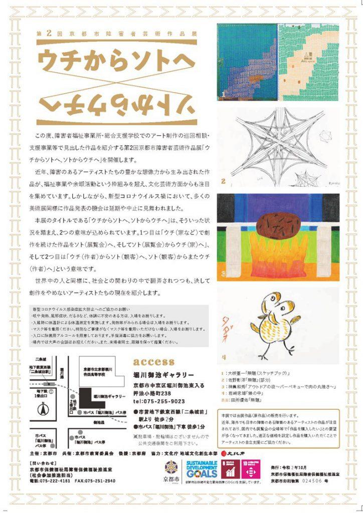 第2回京都市障害者芸術作品展チラシ画像裏面